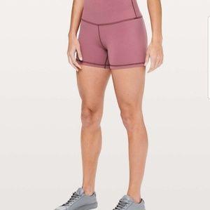 "Lululemon align shorts 4"" misty merlot sz 8"